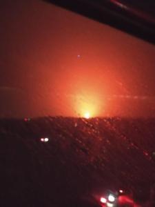foceno z dáličního mostu v Brandýse - už bylo jasno, že jde o větší než velký požár :-)